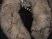 Драповое пальто с песцом в отличном состоянии